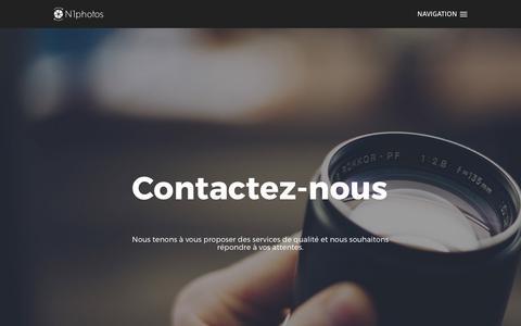 Screenshot of Contact Page n1photos.com - Contact pour toutes informations sur nos prestations photo - Stage photo à Lyon & école formation photographie en Rhône Alpes - captured June 11, 2017
