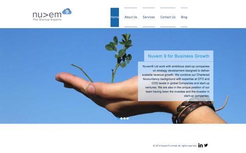 Screenshot of Home Page nuvem9.co.uk - Nuvem 9 Ltd - captured Jan. 26, 2015