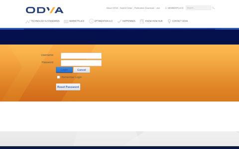 Screenshot of Login Page odva.org - User Log In - captured Aug. 17, 2016