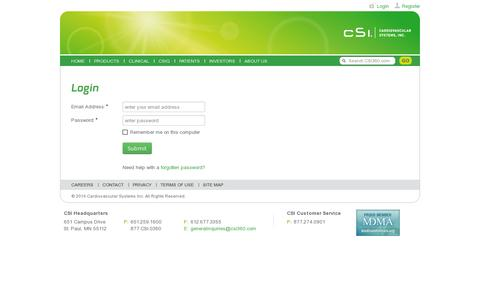 Screenshot of Login Page csi360.com - CSI360 - captured July 19, 2014