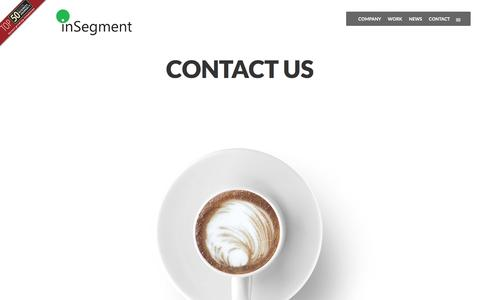 Screenshot of Contact Page insegment.com - Contact Us - Boston Digital Marketing Agency | InSegment - captured May 11, 2016