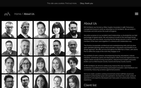 Screenshot of About Page mharchitects.co.uk - MH Architects are based in Chichester about us and meet our staff - captured Oct. 20, 2018