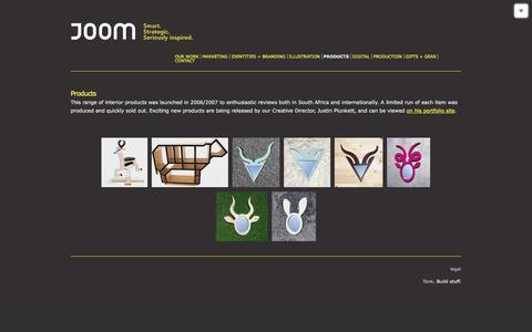 Screenshot of Products Page joom.co.za - Products | Work | Joom - captured Sept. 30, 2014
