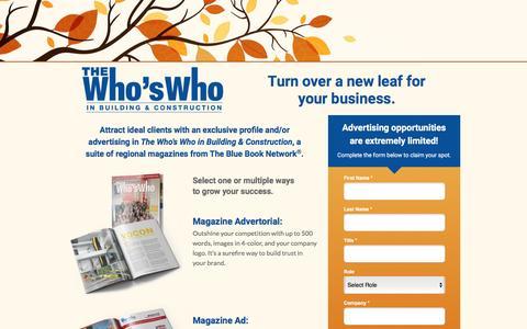 Screenshot of Landing Page thebluebook.com captured Oct. 30, 2016