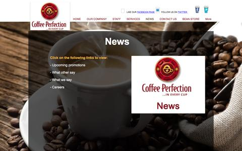 Screenshot of Press Page coffeeperfection.ie - News - captured Nov. 8, 2016