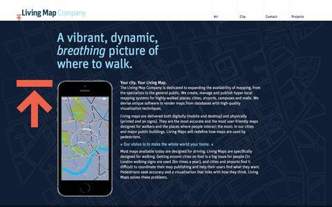 Screenshot of Home Page livingmap.com - Living Map Company - captured July 4, 2016