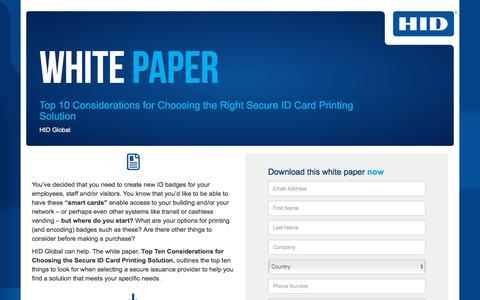 Screenshot of Landing Page hidglobal.com - HID Global-WP-Secure ID Card Printer - captured July 20, 2018