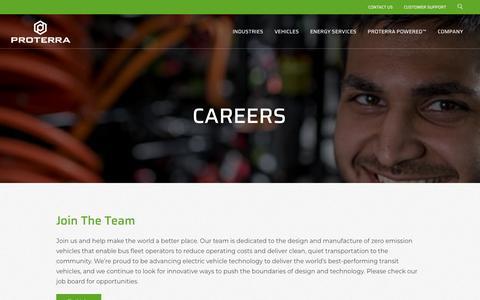 Screenshot of Jobs Page proterra.com - Careers   Proterra - captured July 22, 2019