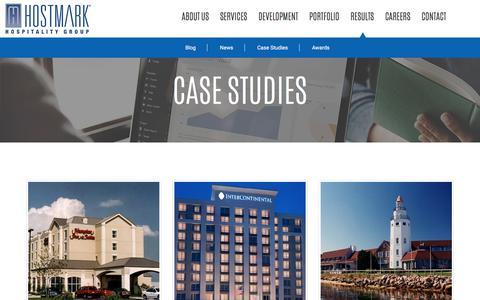 Screenshot of Case Studies Page hostmark.com - Case Studies | Hostmark Hospitality Group - captured Sept. 3, 2017