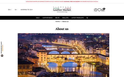 Screenshot of About Page florenceleathermarket.com - Italy Fashion Handbags | Handmade in Italian Leather Factory - captured Dec. 2, 2018