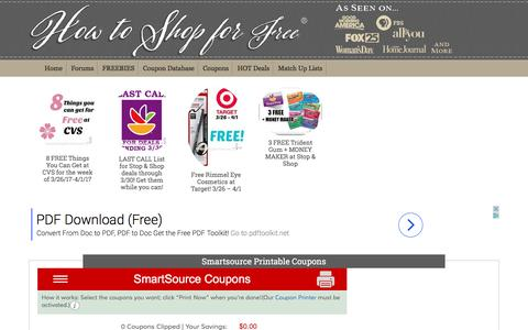 Smartsource Printable Coupons | How to Shop For Free with Kathy Spencer