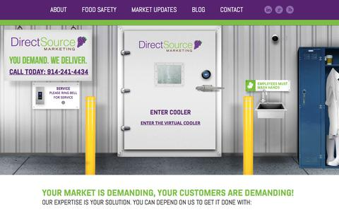 Screenshot of Home Page directsourcemktg.com - Wholesale Table Grapes and Tree Fruit - Direct Source Marketing - captured Sept. 22, 2018