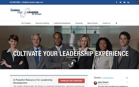 Screenshot of Home Page the-leaders-edge.com - The Leader's Edge/Leaders By Design - captured Oct. 18, 2018
