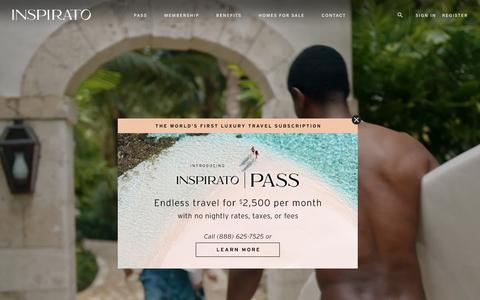 Screenshot of Home Page inspirato.com - Luxury Vacation Rentals | Destination Club | Inspirato - captured July 24, 2019