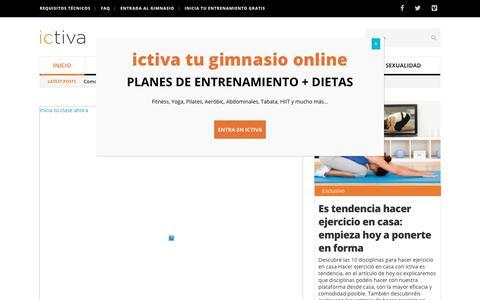Screenshot of Blog ictiva.com - Blog de deportes gym - Disciplinas deportivas para hacer online - Ictiva - captured May 13, 2019