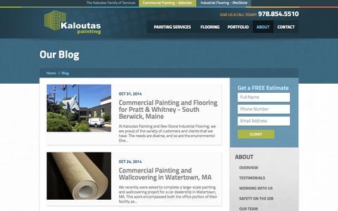 Screenshot of Blog kaloutas.com - Blog | Kaloutas Painting - captured Nov. 3, 2014