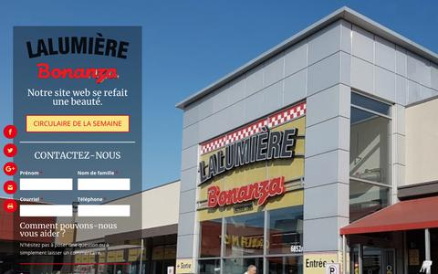 Screenshot of Home Page bonanzalalumiere.com - Bonanza Lalumière: variété et fraîcheur - Marché Bonanza Lalumière - captured Feb. 22, 2018