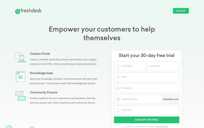 The best Helpdesk Software for your support team | Try Freshdesk
