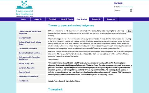 Screenshot of Case Studies Page elflaw.org - Case Studies - Environmental Law Foundation - captured Oct. 2, 2014