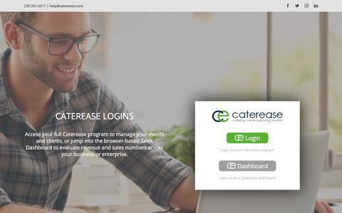 Screenshot of Login Page caterease.com - CEC Login | Caterease - captured March 16, 2018