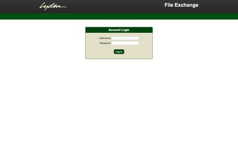 Screenshot of Login Page lydondesign.com - File Exchange - captured Sept. 30, 2018