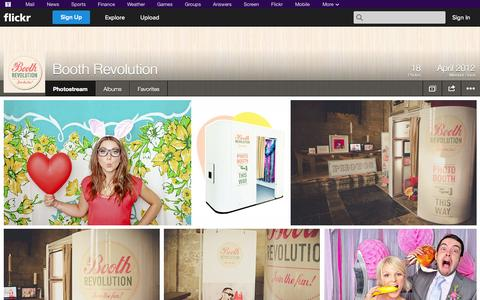 Screenshot of Flickr Page flickr.com - Flickr: Booth Revolution's Photostream - captured Oct. 23, 2014