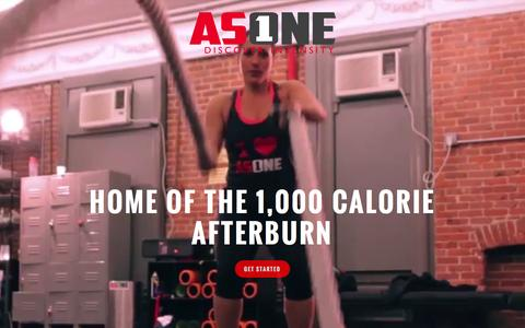 Screenshot of Home Page as1effect.com - AS ONE FITNESS | Discover Intensity - captured Sept. 11, 2015