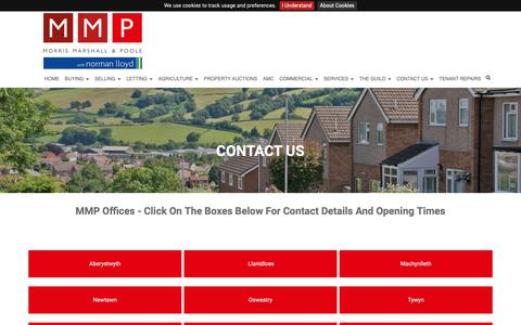 Screenshot of Contact Page morrismarshall.co.uk - CONTACT US - captured Oct. 22, 2018