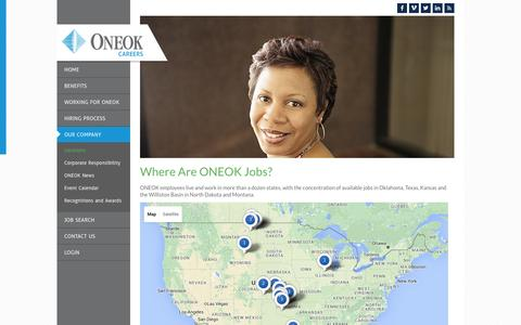 Screenshot of Locations Page theonetoworkfor.com - Locations - captured March 1, 2016
