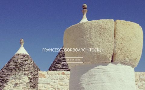 Screenshot of Home Page francescosorbo.com - architecture & Interior Design Naples Italy - captured Feb. 9, 2016