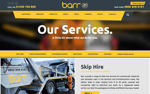 Screenshot of Services Page barr.co.uk - Services - Barr - captured July 25, 2018