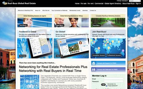 Screenshot of About Page real-buzz.com - Attract more buyers, more listings and more referrals with the - The global real estate marketplace - captured Oct. 18, 2018