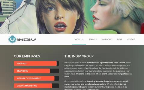 Screenshot of About Page indiv.co.za - Website design Pretoria | Branding Sandton | Online marketing Johannesburg - captured Oct. 3, 2014