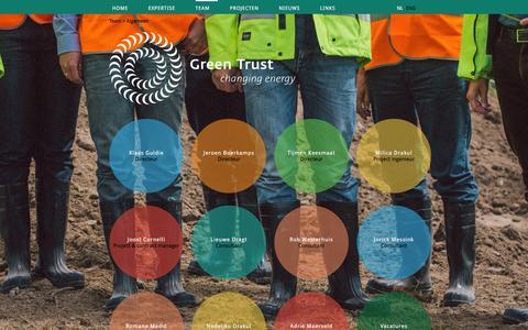 Screenshot of Team Page greentrust.nl - Team | Green Trust - captured Feb. 2, 2016