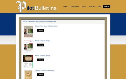 Screenshot of Signup Page pilotbulletins.net - SignUp - captured Jan. 28, 2016