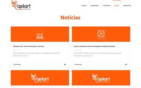 Screenshot of Blog qelart.com - Blog - Qelart Entertainment - captured Nov. 4, 2018