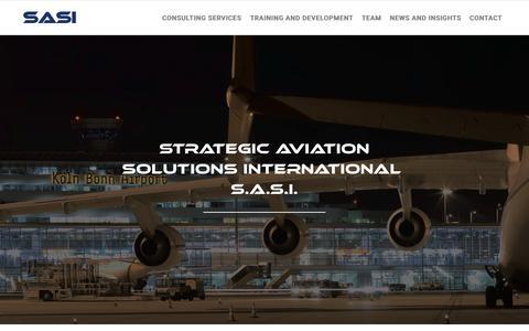 Screenshot of Home Page sasi.com.hk - SASI | Strategic Aviation Solution International - captured Jan. 26, 2015