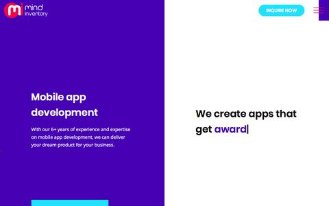 Screenshot of Services Page mindinventory.com - Mobile App Development Services, iOS, Android Mobile Application Development India, USA - captured Sept. 17, 2017