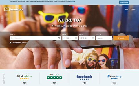 Screenshot of Home Page travelopo.com - Travelopo: How to Book the Best Villa & Apartment Holiday Rentals now - captured Sept. 22, 2018