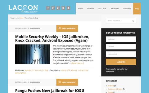 Screenshot of Blog lacoon.com - Mobile Security Blog - Lacoon Mobile Security - captured Oct. 28, 2014