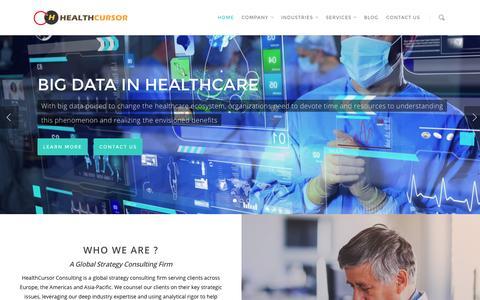 Screenshot of Home Page healthcursor.com - HealthCursor Consulting - captured Sept. 20, 2015