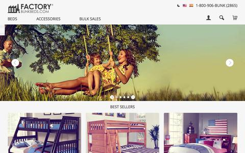 Screenshot of Home Page factorybunkbeds.com - Bunk Beds for Sale - Choose from the Best - captured Oct. 21, 2015