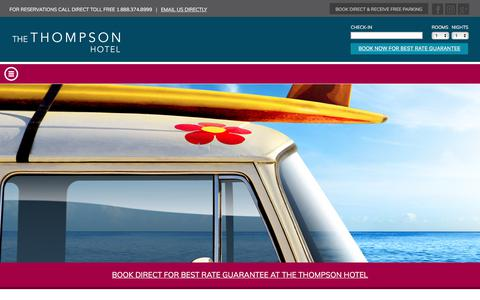Screenshot of Site Map Page thompsonhotel.ca - Sitemap - The Thompson Hotel - captured June 23, 2017