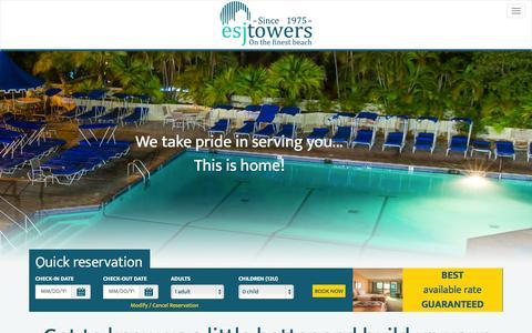 Screenshot of Blog esjtowers.com - Puerto Rico Beach Hotel - ESJ Towers - Blog - captured Oct. 28, 2014