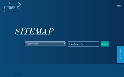 Screenshot of Site Map Page plasticsurgerystudios.com - Sitemap - captured May 23, 2018