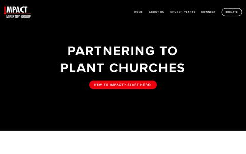 Screenshot of Home Page impactministrygroup.org - Impact Ministry Group - captured Sept. 12, 2018