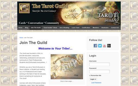 Screenshot of Signup Page tarotguild.org - Tarot Guild Membership | The Tarot Guild - captured June 12, 2017