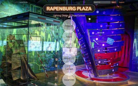 Screenshot of Home Page rapenburgplaza.com - Rapenburg Plaza - Lighting Design & Show Control - captured Oct. 9, 2014