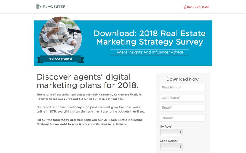 2018 Real Estate Marketing Strategy Survey - Placester