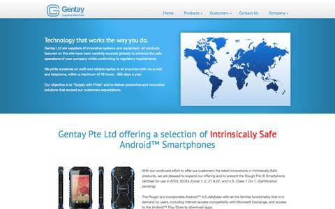 Screenshot of Home Page gentay.co.uk - Gentay - Innovative Enterprise Products and Systems - captured Sept. 20, 2015